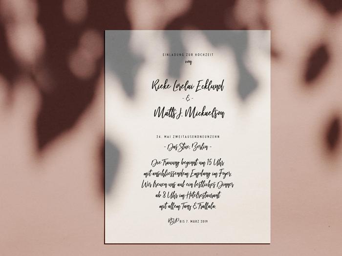 Einladungskarte Monterey von Honeybird.de contemporary Design