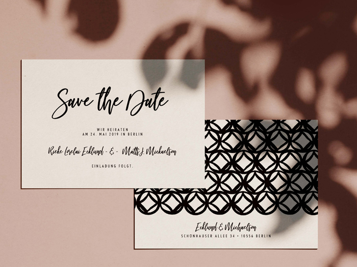 Save the Date Karte Monterey von Honeybird.de