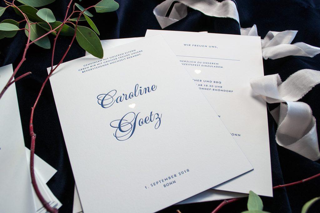 Letterpress Love mit weddingdesign Park Avenue von HONEYBIRD fine letterpress Cards, edle Materialien, mit Heissfolienprägung