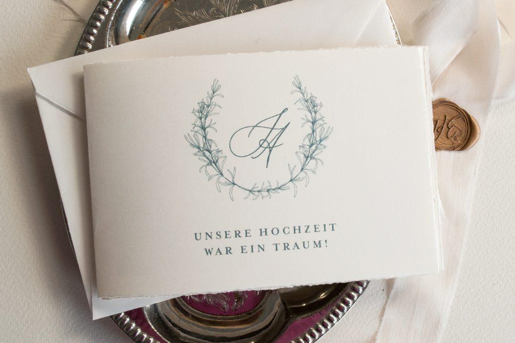 Tenderly Hochzeitspapeterie Dankeskarten von Honeybird