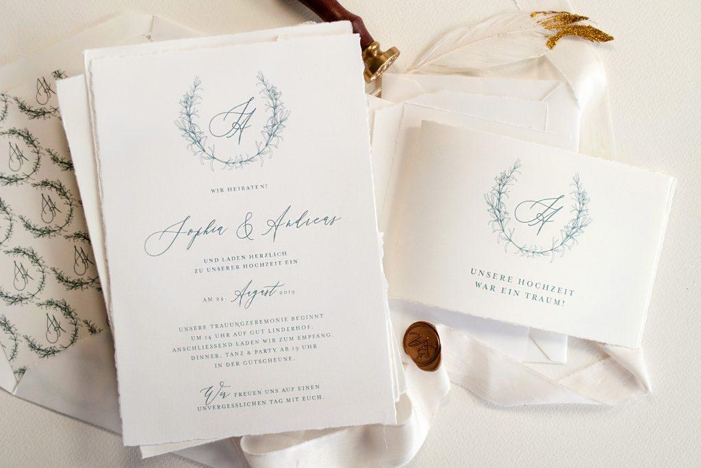 Tenderly Hochzeitspapeterie Einladungen und Dankeskarten von Honeybird