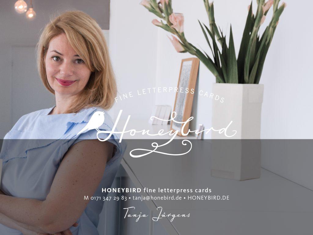 Honeybird fine letterpress cards Gründerin Tanja Jürgens Hochzeitskarten aus Hamburg
