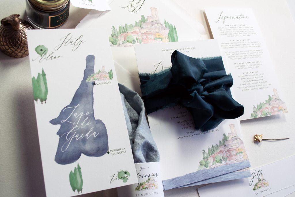 Couture Papeterie, individuelle Papeterie, Watercolor Illustration, Einzigartig Exklusiv, unique, Luxury wedding