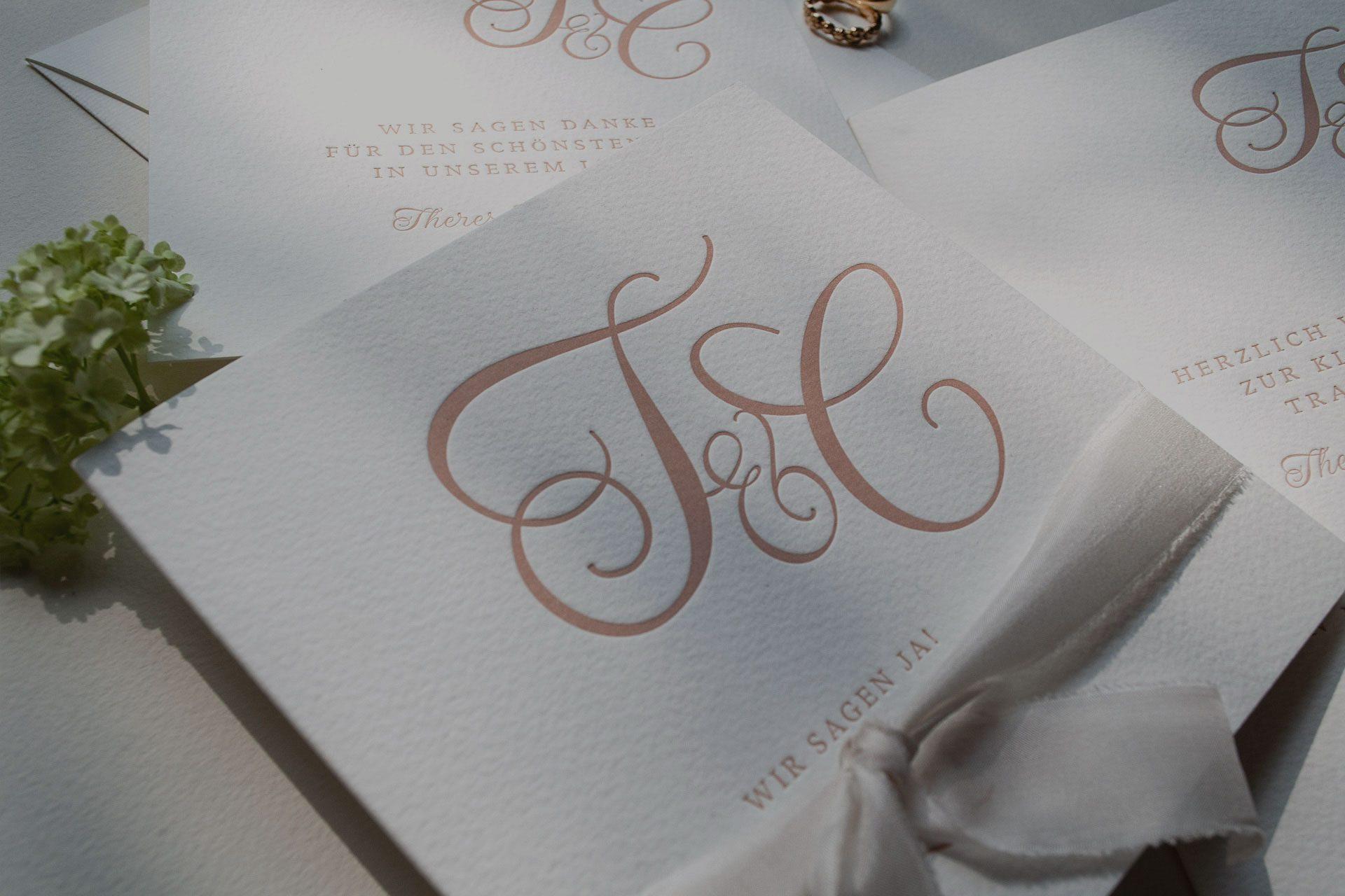 Letterpress Einladung Hochzeit