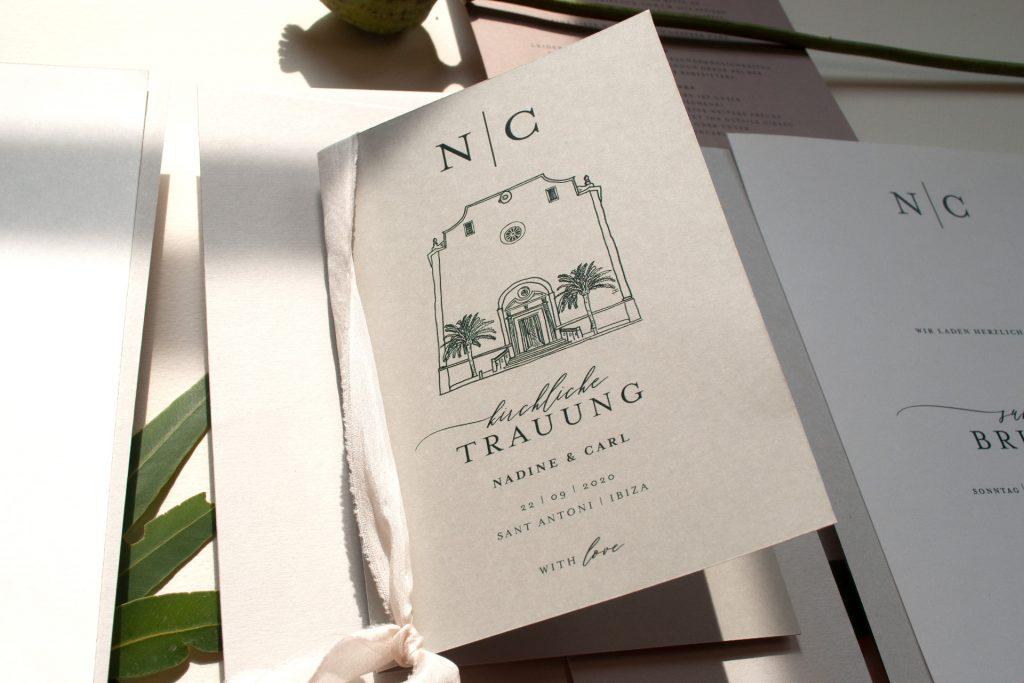 Kirchenprogrammhüllen mit individueller illustration, design Mono von HONEYBIRD