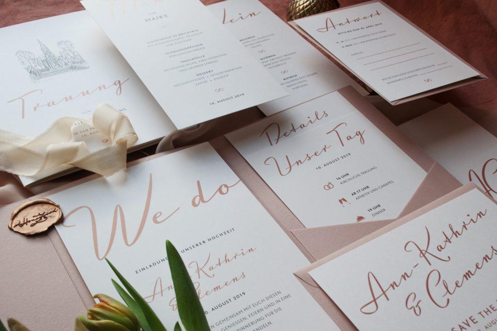 We do Statement Einladungskarten im Pocketfold, Save the Date Karten,