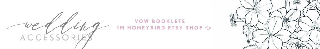 Wedding Accessories, Vow Booklets, Eheversprechen, Gelübde Büchlein von Honeybird.