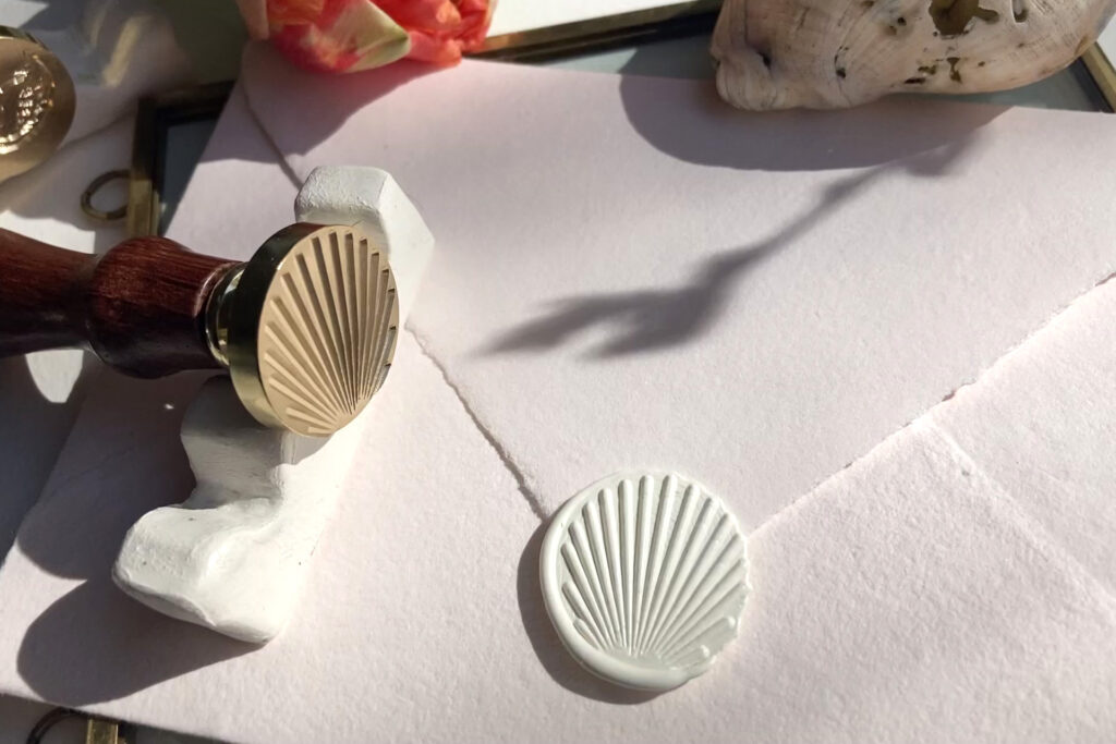 Honeybird Siegelliebe Wachssiegel Shell, was Seal stamp