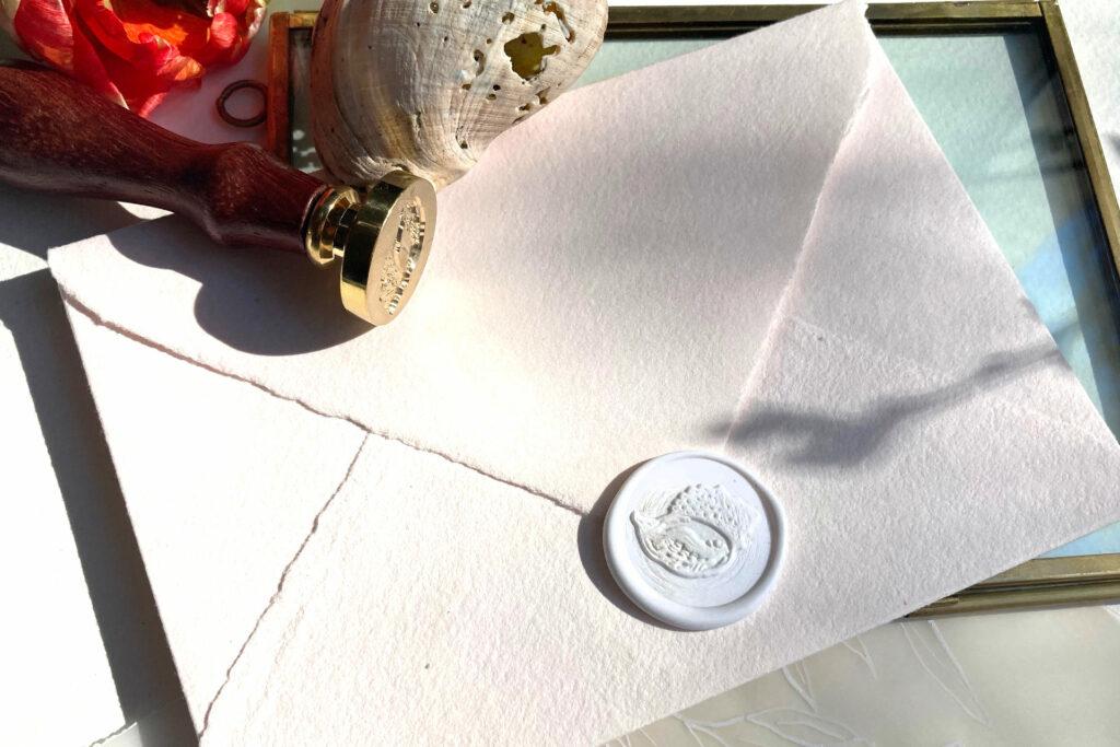 Honeybird Siegelliebe Wachssiegel Shell Muchel, was Seal stamp