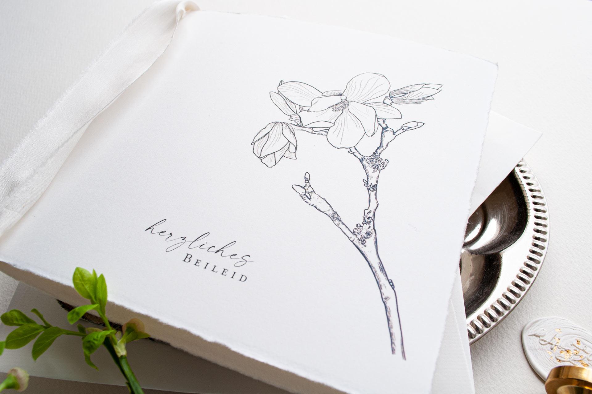 Magnolien Blüte zur Trauer